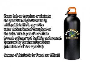 quechuas expeditions bottle