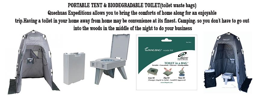inca trail biodegradable toilets tents
