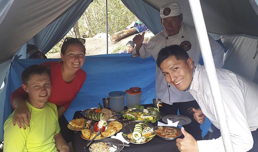 inca trail machupicchu food