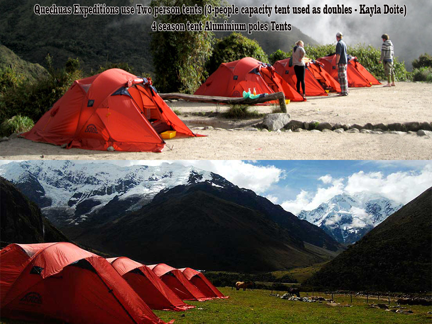 quechuas expeditions Camping equipment